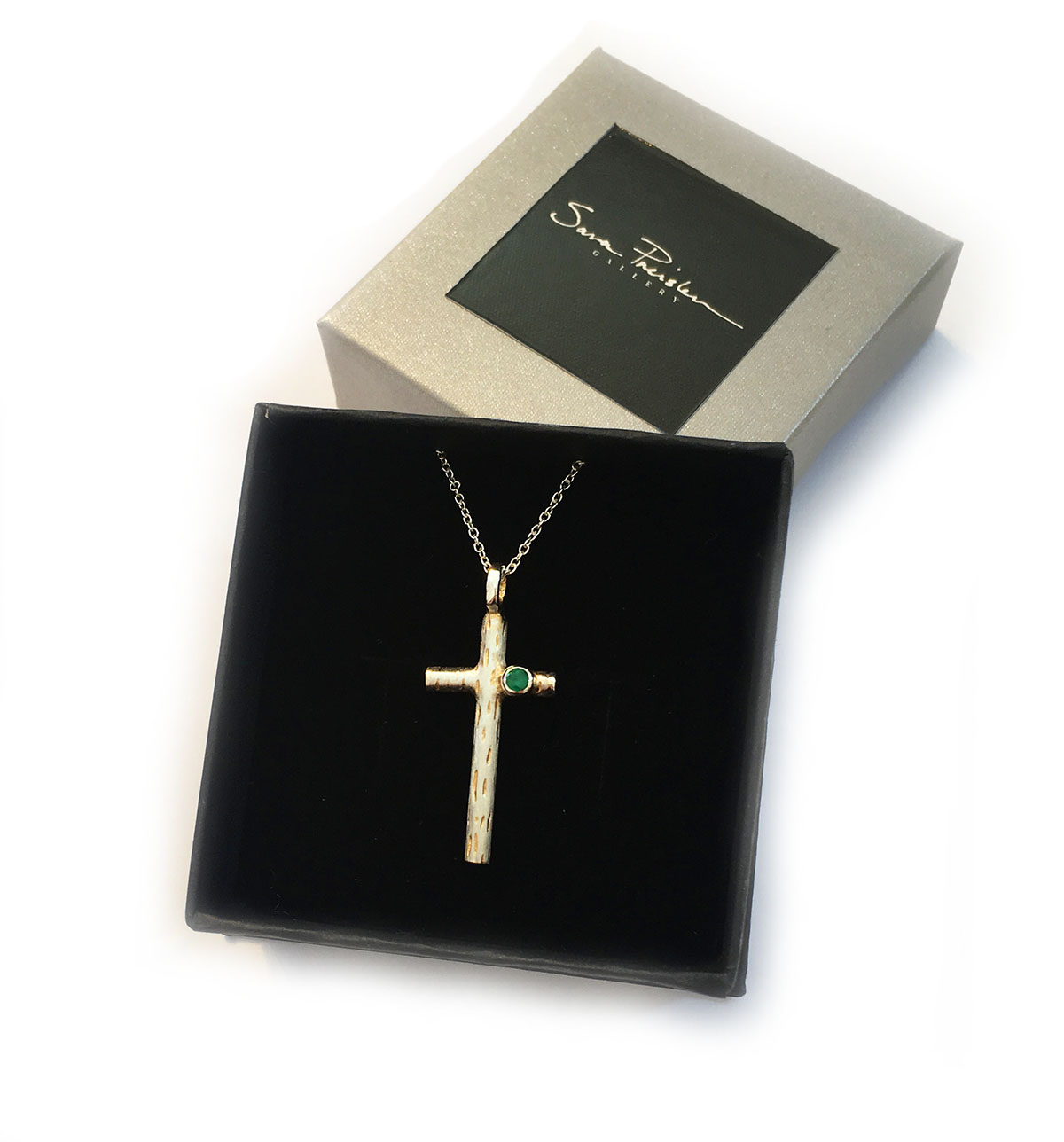 Emerald Set First Holy Communion Cross