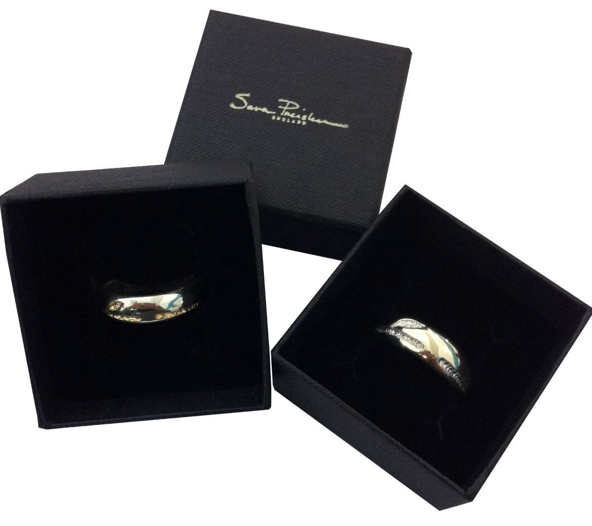 Sculpted Wedding Ring Set