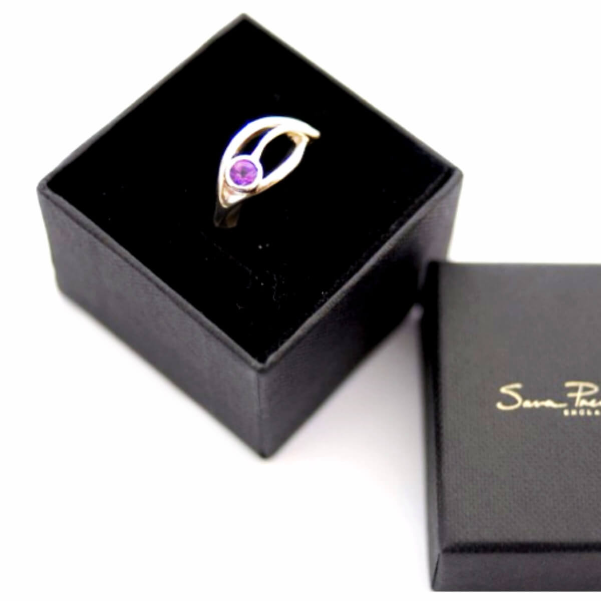 Amethyst Ring Set in White Gold