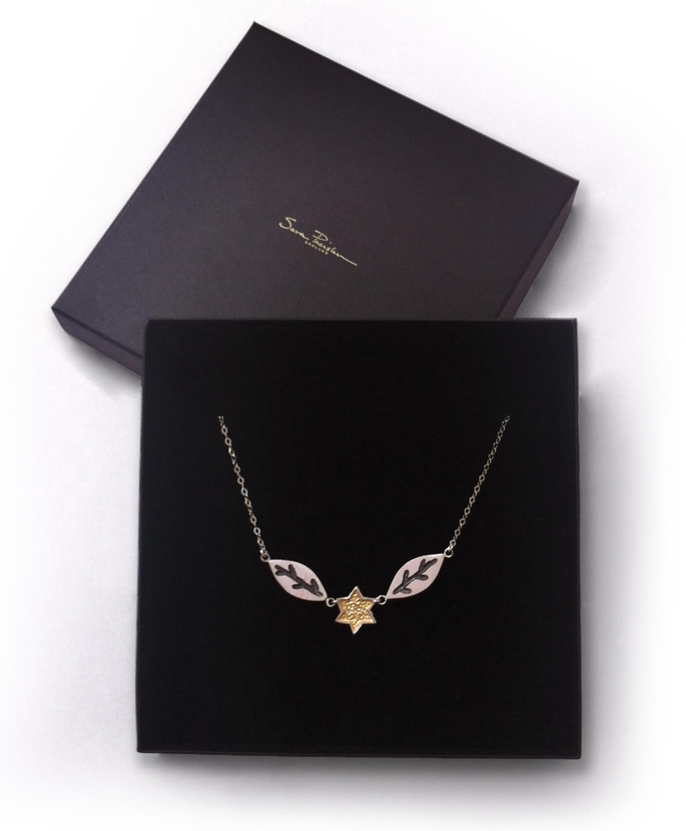 Leaf and Star Necklace