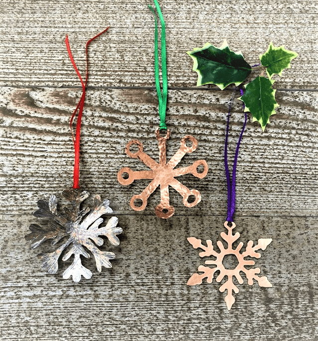 Christmas Copper Snowflakes!